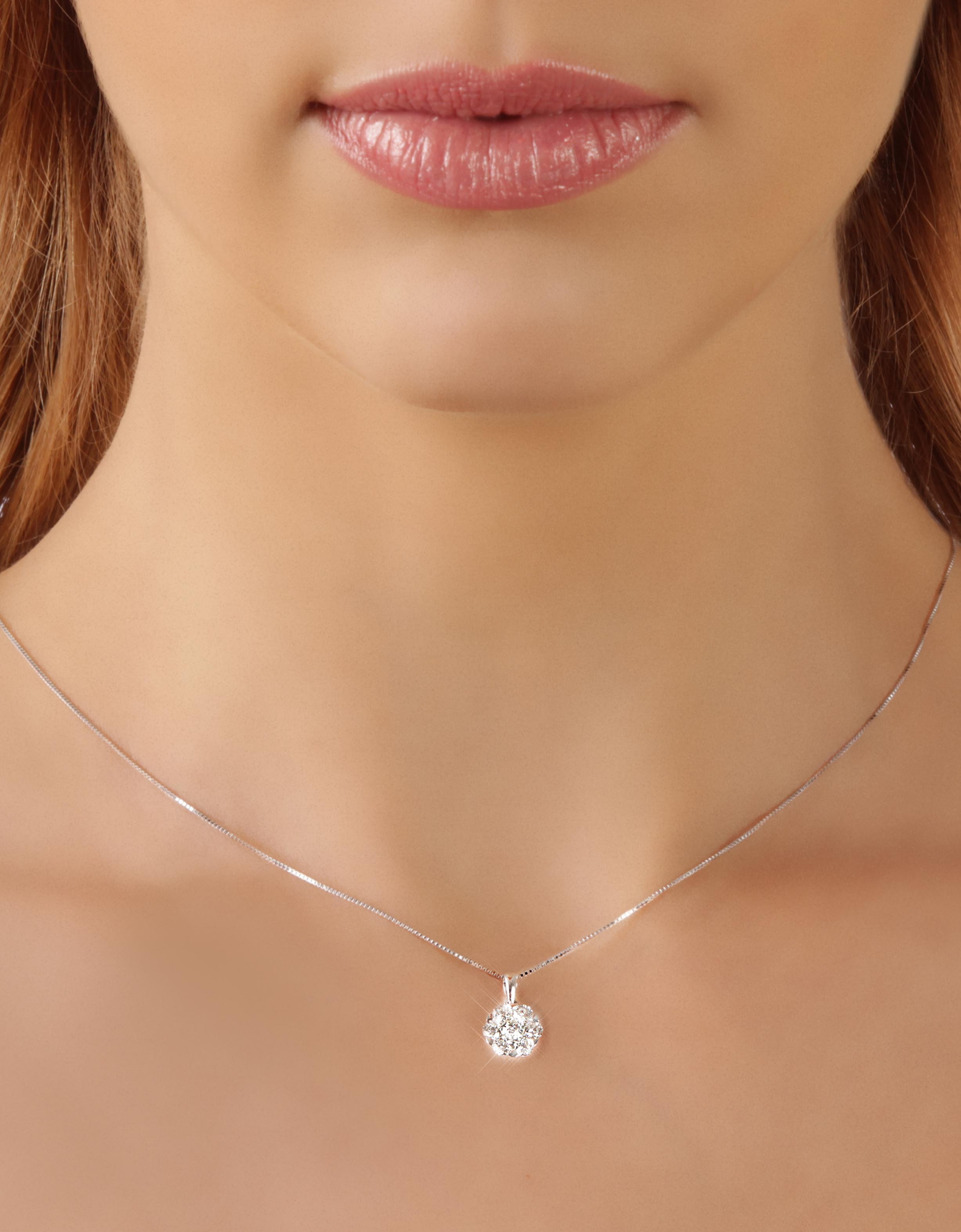 winterson solitaire freshwater white pendant drop necklace with gold and pearl diamond in
