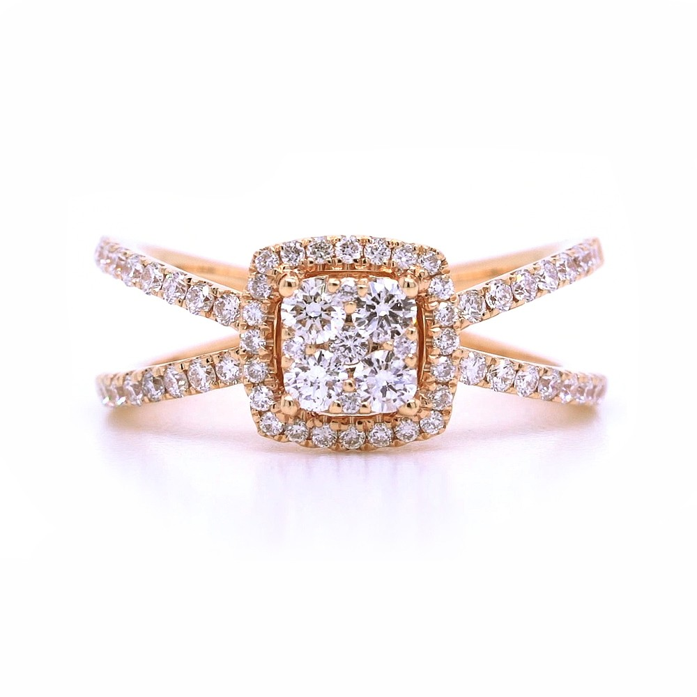 Bridal Rings Company Modern Engagement Ring in 18K Rose Gold