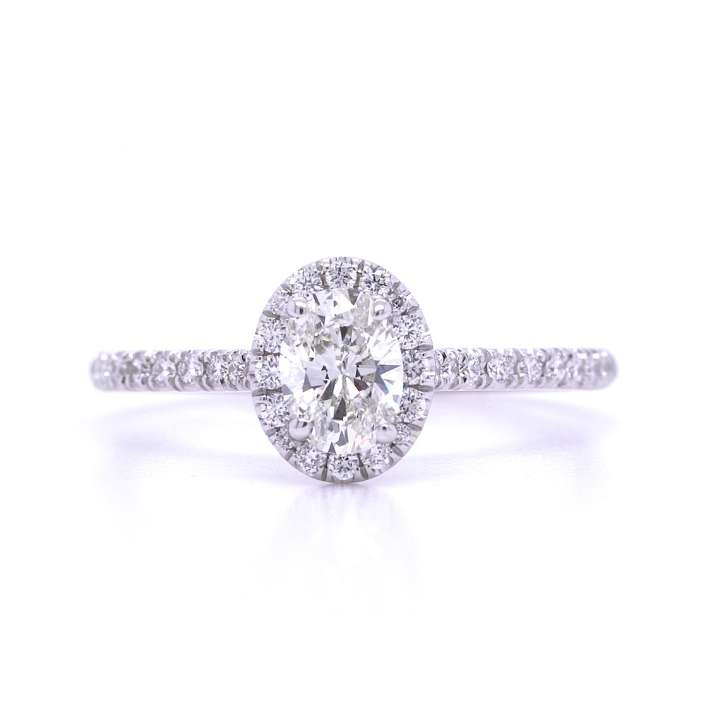 Bridal Rings Company Oval Diamond Engagement Ring in Platinum