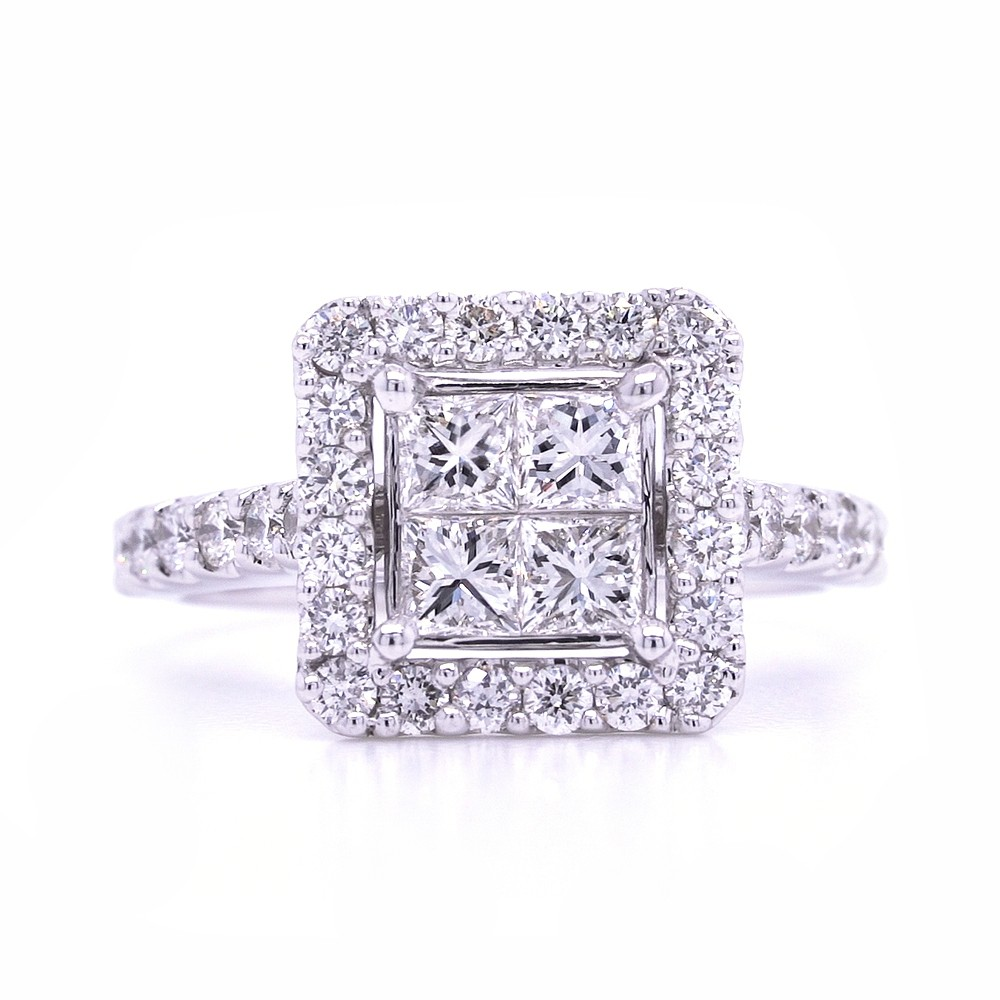 Bridal Rings Company Princess Cut Engagement Ring in 18K White Gold