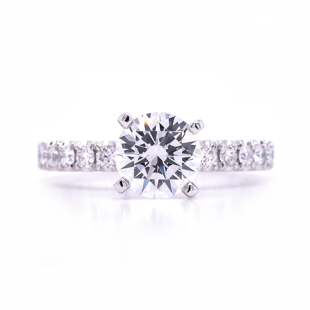 Bridal Rings Company Round Diamond Engagement Ring in 14K White Gold