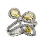 18 KARAT WHITE GOLD WEDDING / ANNIVERSARY BAND with 97 Diamond(s) 0.45ctw