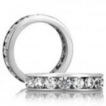 18 KARAT WHITE GOLD DIAMOND WEDDING BAND - 1611WB
