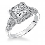 """Maxine"" Diamond Halo Engagement Ring"