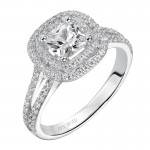 Betty' Diamond Halo Engagement Ring - 31-V375EUW