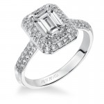Betsy' Emerald Cut Diamond Engagement Ring  - 31-V378EEW