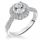 Betsy' Diamond Halo Engagement Ring  - 31-V378FRW