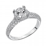 """June"" Diamond Halo Engagement Ring"