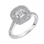 """Tara"" Cushion Cut Diamond Engagement Ring"