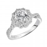 Natasha' Diamond Halo Engagement Ring - 31-V452ERW-E.00