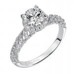 """Sadie"" Diamond Halo Engagement Ring"