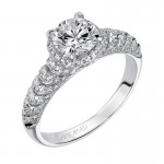 """Zaria"" Diamond Halo Engagement Ring"