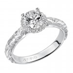 """Catrina"" Halo Diamond Engagement Ring"