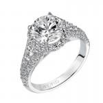 """""""Wanda"""" Enchanted Halo Diamond Engagement Ring"""