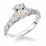 """Ruby"" Two-Tone Diamond Engagement Ring in White Gold"