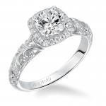 Piper' Halo Prong Set Engagement Ring - 31-V531ERW-E.00