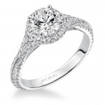 Liana' Prong Set Halo Engagement Ring - 31-V592ERW-E.00