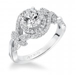 Zara' Prong Set Halo Diamond Engagement Ring - 31-V601ERW-E.00