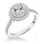 Melinda' Diamond Double Halo Engagement Ring  - 31-V607ERW