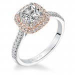 Avril' Double Halo Diamond Engagement Ring  - 31-V608EUR