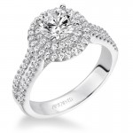"""Kristen"" Double Halo Diamond Engagement Ring"