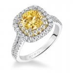 Marigold' Double Halo Diamond Engagement Ring  - 31-V611GRA