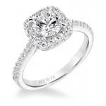 """Liv"" Classic Diamond Halo Engagement Ring"