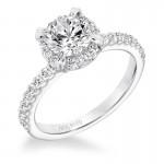 """Emme"" Classic Diamond Halo Engagement Ring"