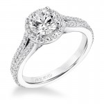 Taylor' Classic Diamond Halo Engagement Ring  - 31-V647ERW