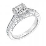 Corene' Vintage Diamond Halo Engagement Ring - 31-V719ECW-E.00
