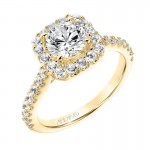 """Lenore"" Classic Diamond Halo Engagement Ring"