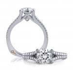18 KARAT WHITE GOLD WEDDING RING with 2 Diamond(s) 0.00ctw