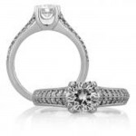 18 KARAT WHITE GOLD WEDDING RING with 36 Diamond(s) 0.34ctw