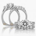 18 KARAT WHITE GOLD WEDDING RING with 2 Diamond(s) 0.61ctw