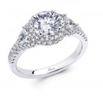 18 KARAT WHITE GOLD WEDDING RING with 76 Diamond(s) 0.51ctw