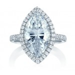 HALO STATEMENT MARQUISE ENGAGEMENT RING