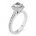 Michael M Amore Modern Halo Diamond Engagement Ring