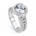 Michael M. Graduated Triple Row Diamond Engagement Ring