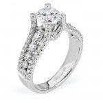 18 KARAT WHITE GOLD WEDDING RING with diamonds - R513-1 - Michael M