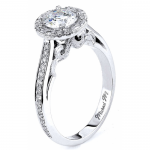 Michael M Vintage-Style Halo Diamond Engagement Ring
