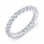 18 KARAT WHITE GOLD WEDDING RING with diamonds - WB0419