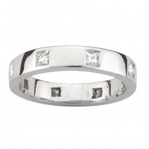 PLATINUM DIAMOND WEDDING BAND with 8 Diamond(s) 0.64ctw
