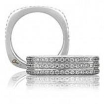 18 KARAT WHITE GOLD DIAMOND WEDDING BAND  0.55ctw