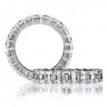 18 KARAT WHITE GOLD DIAMOND WEDDING BAND - 1612WB