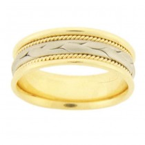 PLATINUM & 18 KARAT YELLOW GOLD GENTS BAND