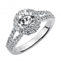 Megan' Diamond Halo Engagement Ring  - 31-V331ERW