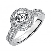 Callie' Diamond Halo Engagement Ring - 31-V374ERW