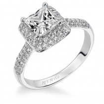 Betsy' Princess Cut Diamond Engagement Ring  - 31-V378ECW