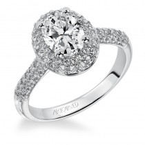 Betsy' Oval Cut Diamond Halo Engagement Ring  - 31-V378EVW