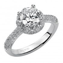 """Adalyn"" Diamond Halo Engagement Ring"
